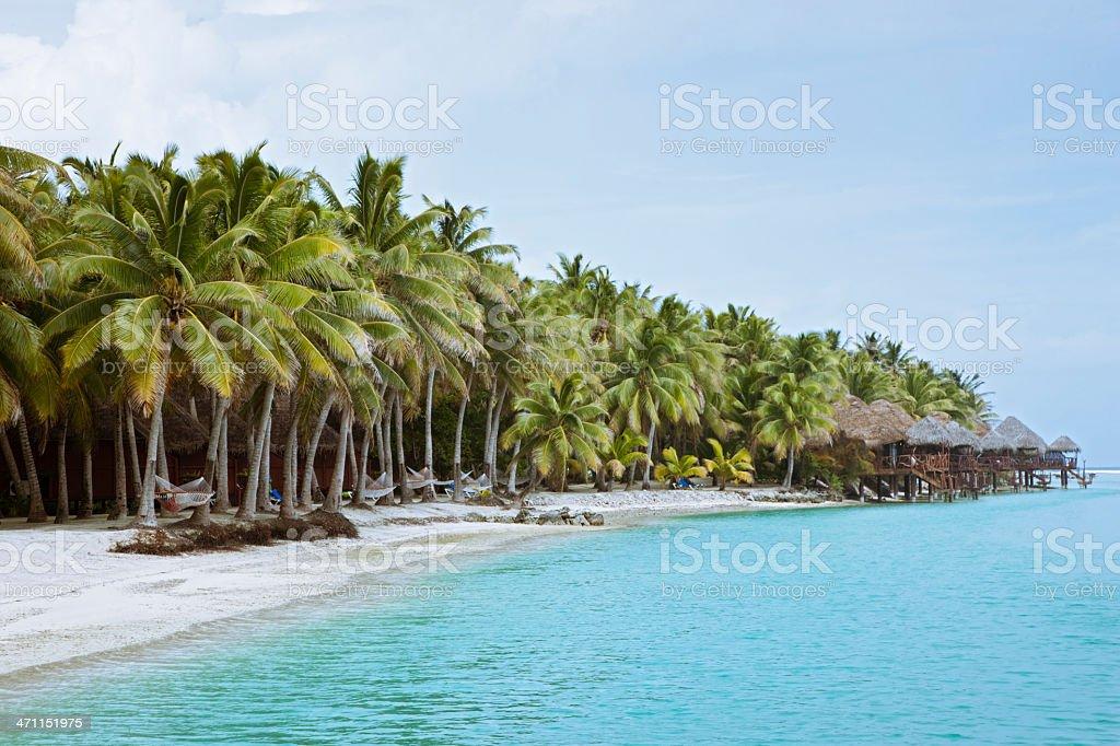 Aitutaki Cook Islands Tourist Resort royalty-free stock photo
