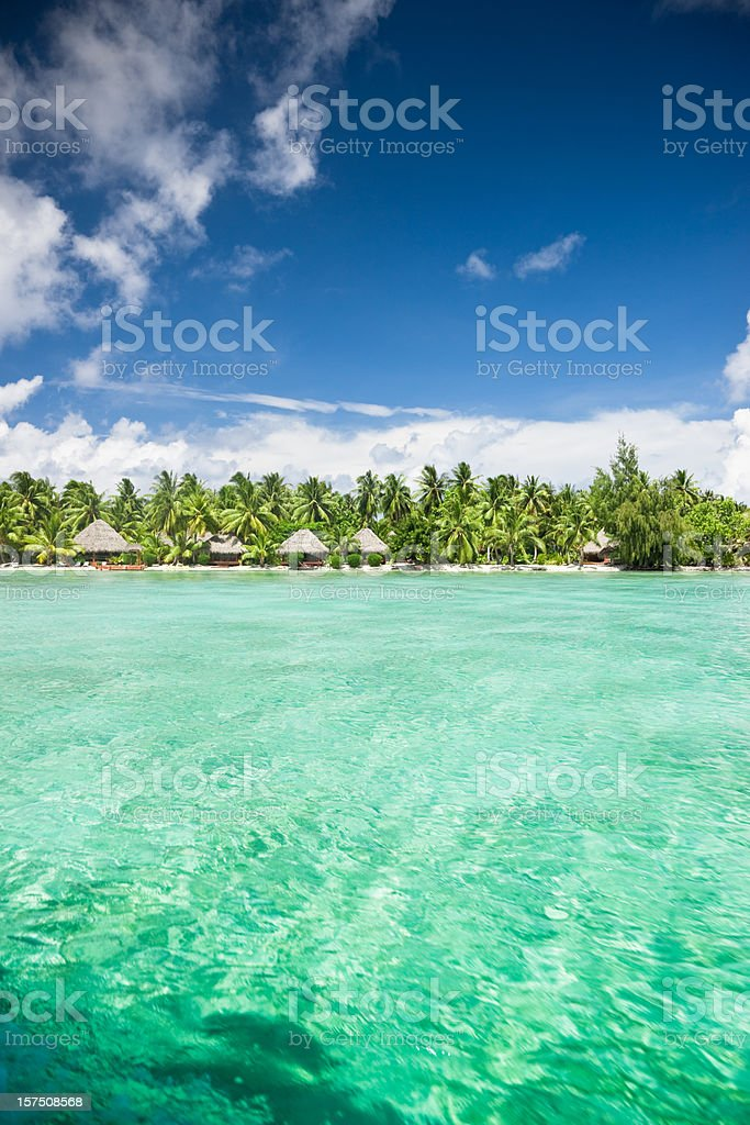Aitutaki Island Beach Resort Cook Islands royalty-free stock photo