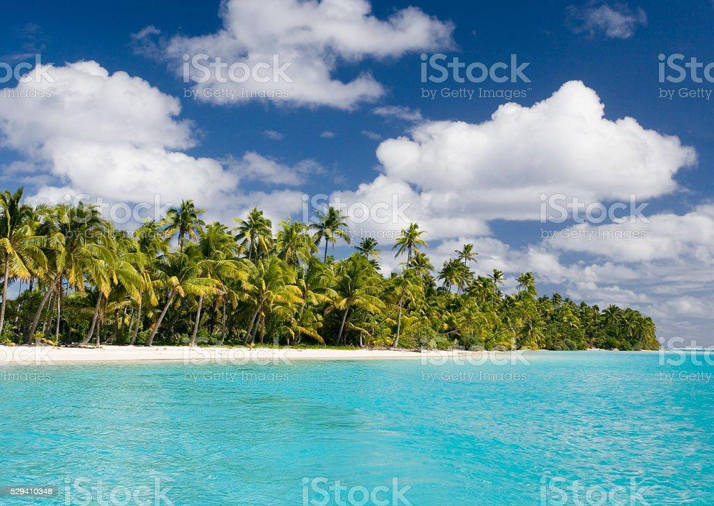 Aitutaki Lagoon - Cook Islands - South Pacific stock photo