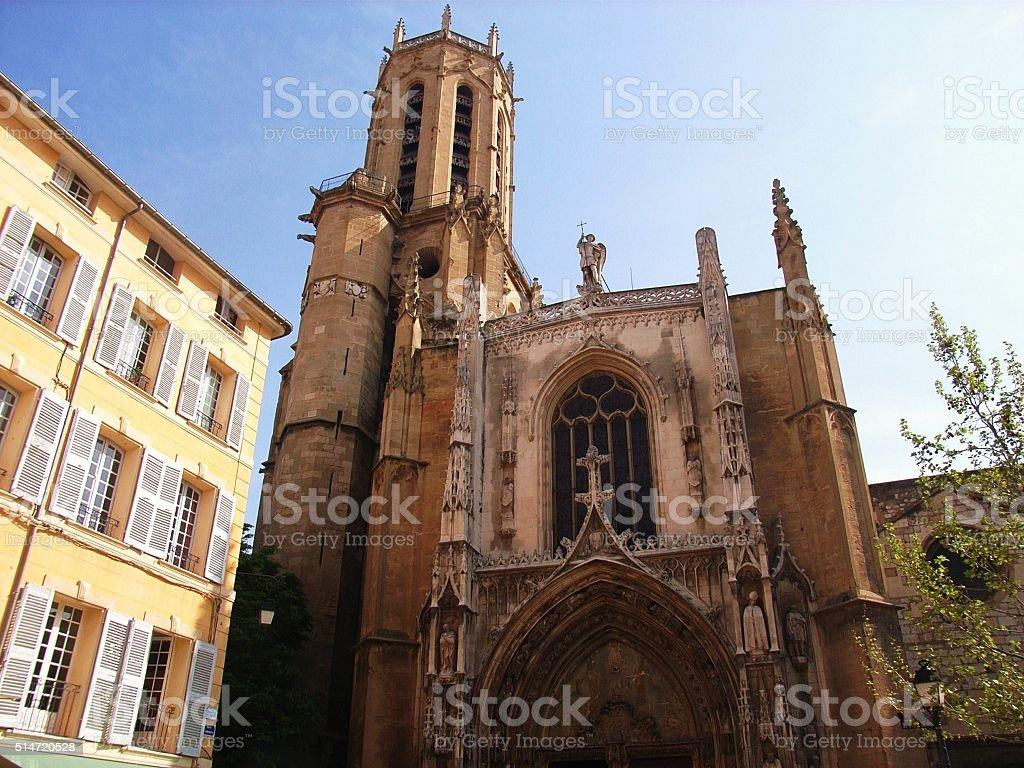 Aix en Provence – Cattedrale di Saint Sauveur stock photo