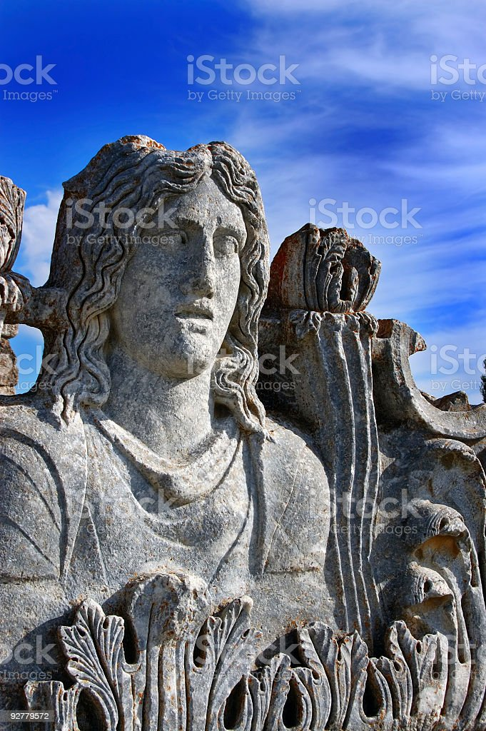 Aizonai Zeus Temple, Cavdarhisar, Kutahya, Turkey stock photo