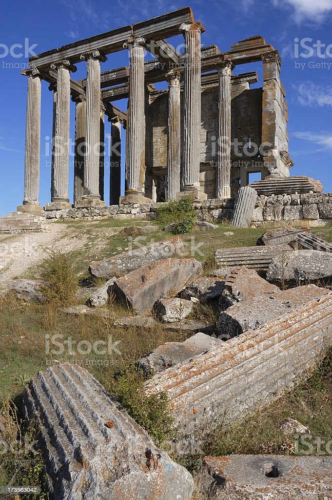 Aizonai Zeus Temple, Kutahya, Turkey stock photo