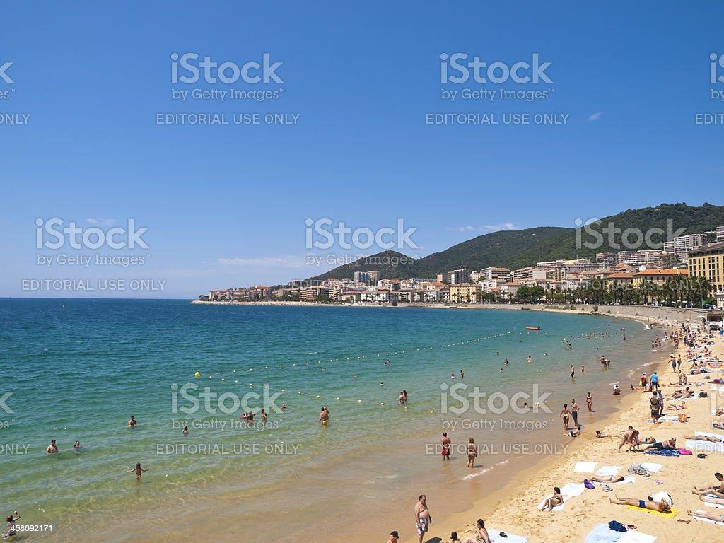 Ajaccio bay stock photo