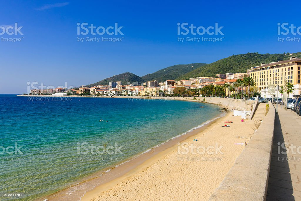 Ajaccio Beach stock photo
