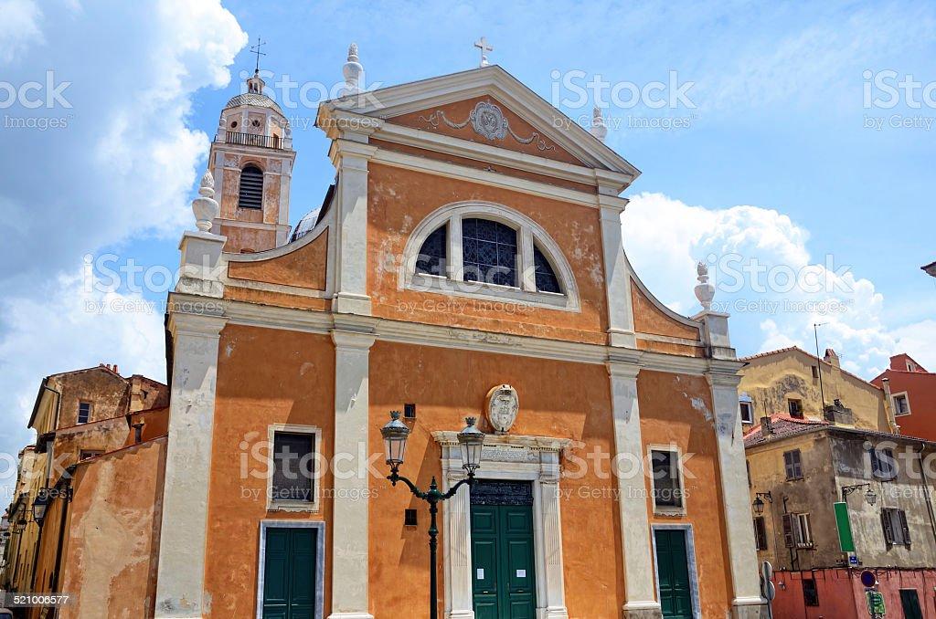 Ajaccio Cathedral stock photo