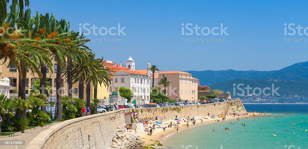 Ajaccio, Corsica, France. Coastal cityscape stock photo