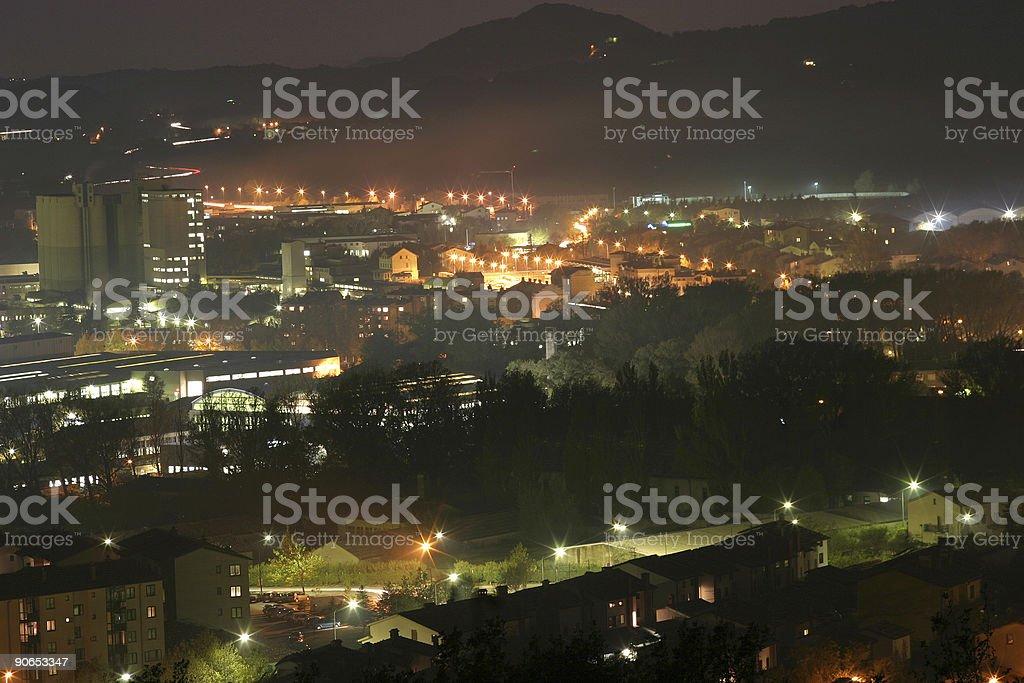 Ajdovscina by night royalty-free stock photo