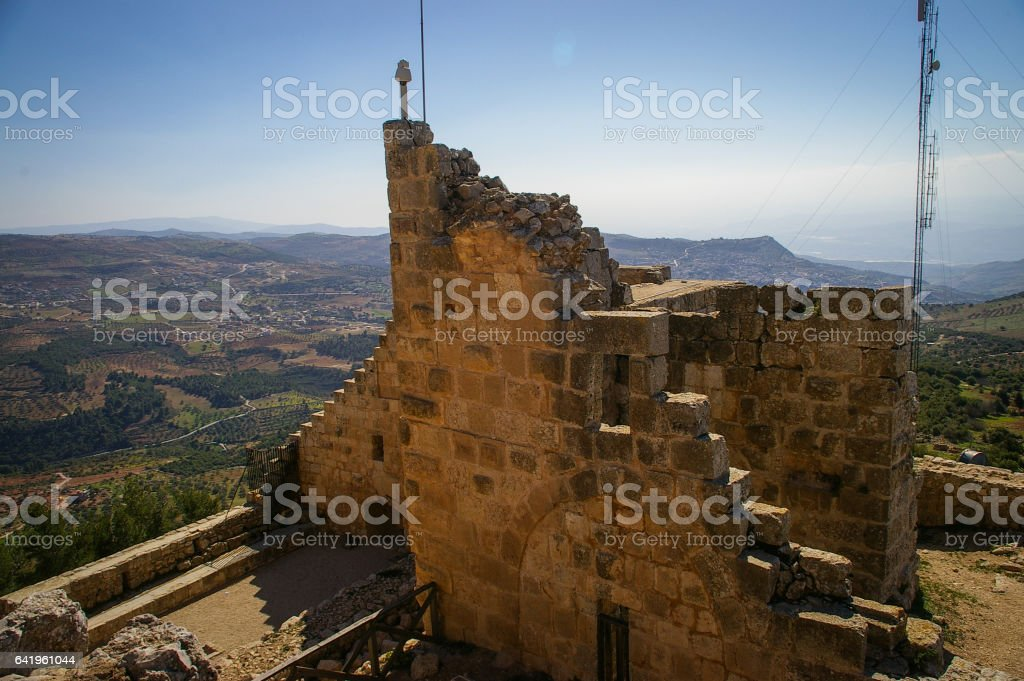 Ajloun Castle, Jordan stock photo