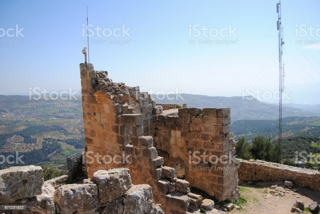 Ajloun Castle View Point stock photo