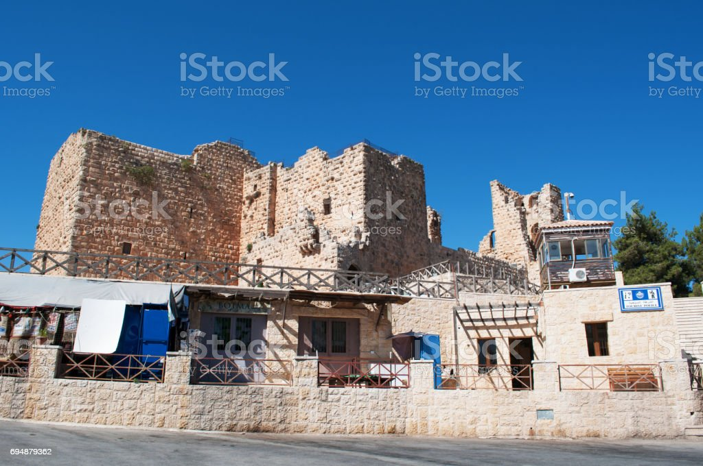 Ajloun: the Ajloun Castle, a Muslim castle built by the Ayyubids in the 12th century, enlarged by the Mamluks, on a hilltop belonging to the Mount Alun district stock photo