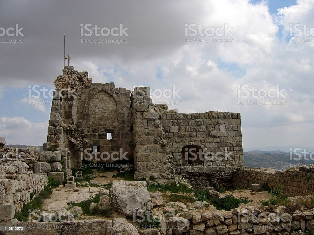 Ajlun Castle in Jordania stock photo