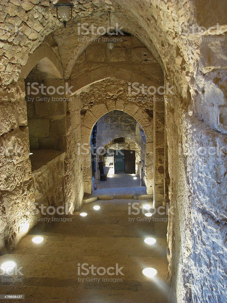 Ajlun Castle Interior stock photo