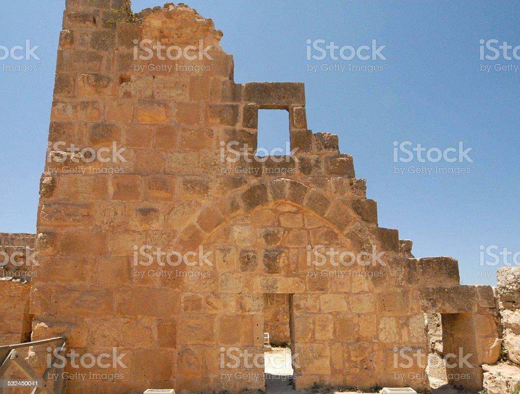 Ajlun castle ruins, Jordan stock photo