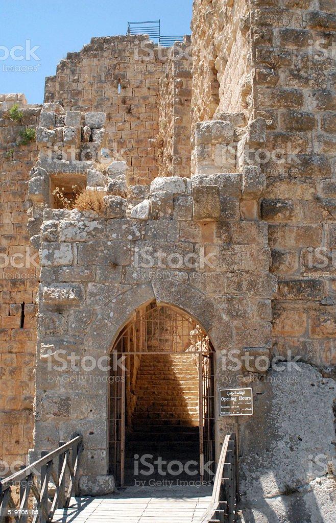 Ajlun, Jordan: Ajlun castle stock photo