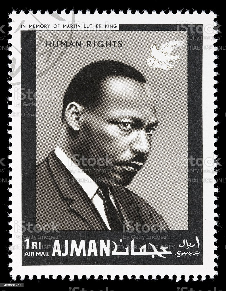 Ajman Martin Luther King postage stamp royalty-free stock photo