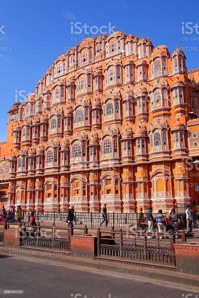 Ajmeri Gate in Jaipur, Rajasthan, India stock photo