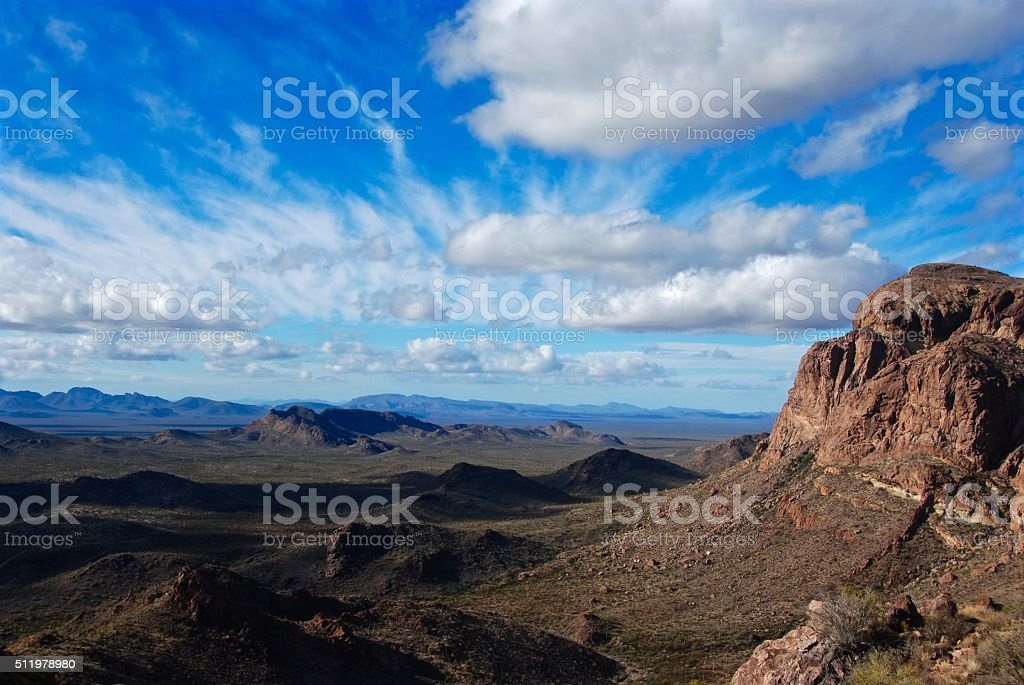 Ajo Mountains and Valley of the Ajo stock photo