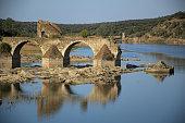 Ajuda bridge. Frontier between Spain and Portugal.