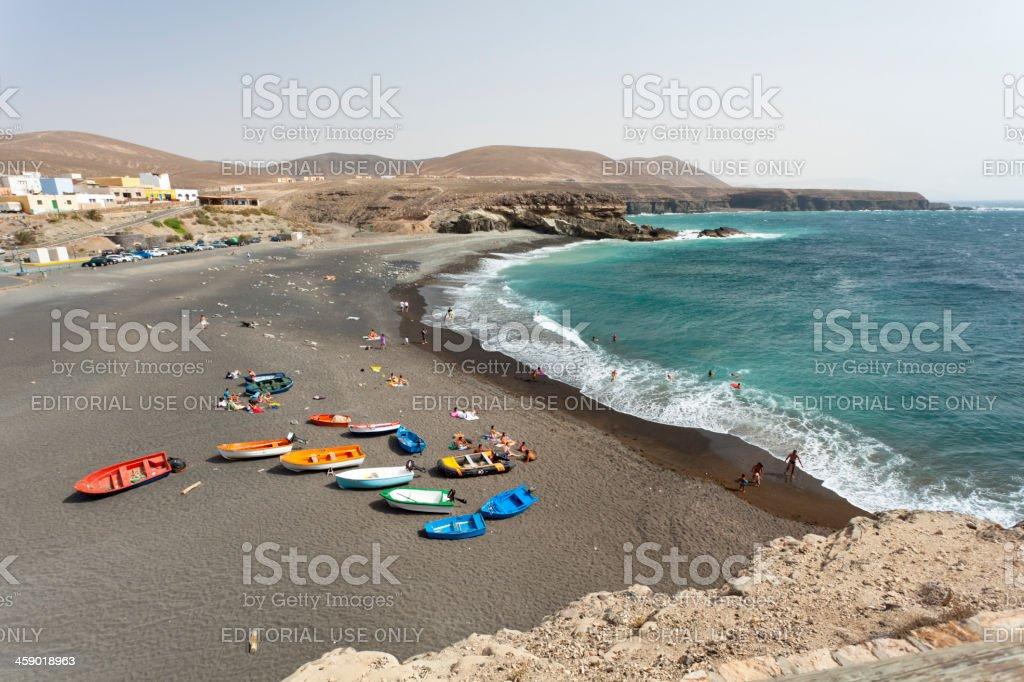 Ajuy Beach And Coastline, Fuerteventura royalty-free stock photo