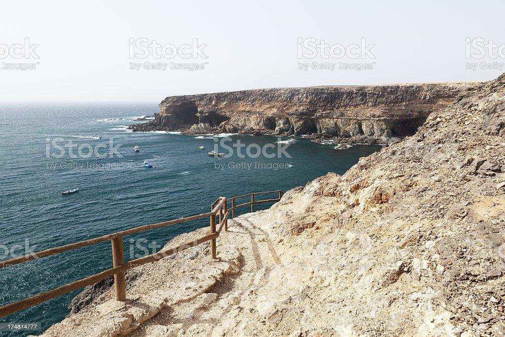 Ajuy Coastline, Fuerteventura royalty-free stock photo
