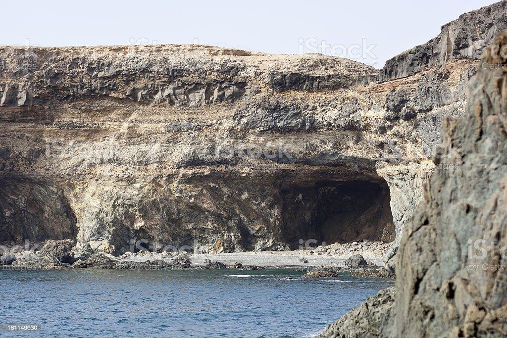 Ajuy Coastline With Caves, Fuerteventura royalty-free stock photo