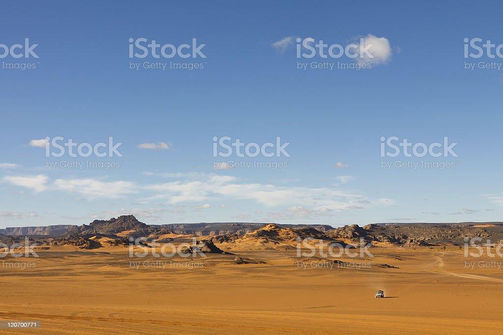Akakus (Acacus) Mountains, Sahara, Libya at Sunrise stock photo