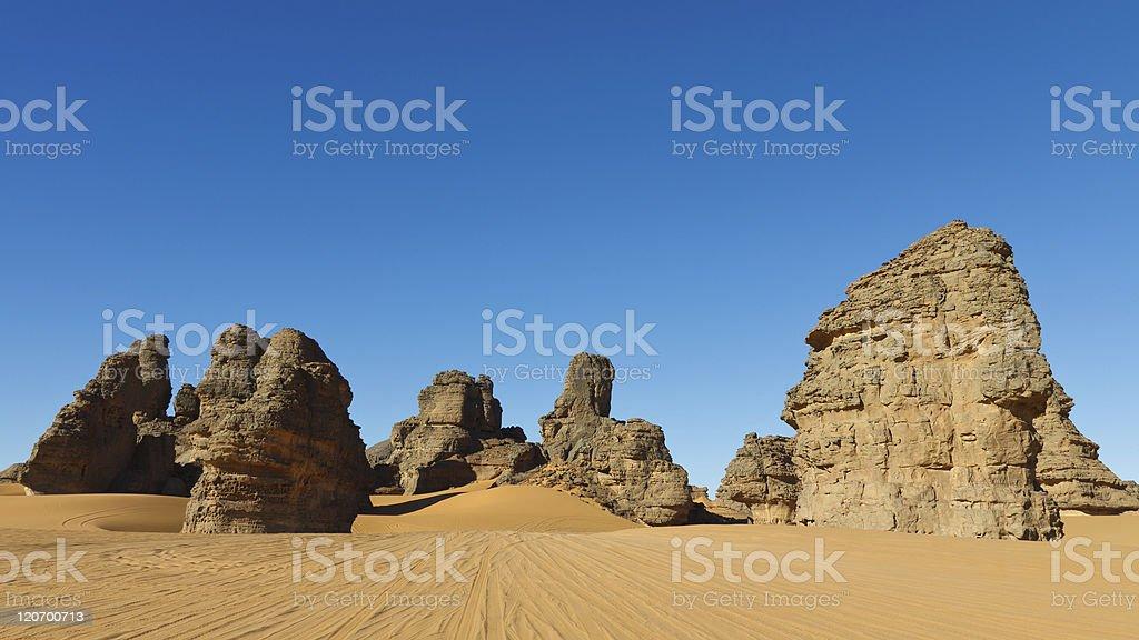 Akakus (Acacus) Mountains, Sahara, Libya stock photo