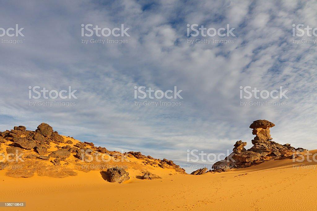Akakus Mountains, Sahara, Libya stock photo