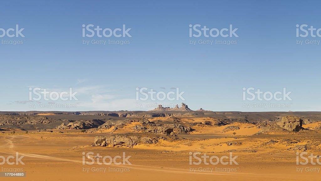 Akakus Mountains Scenery, Sahara, Libya stock photo