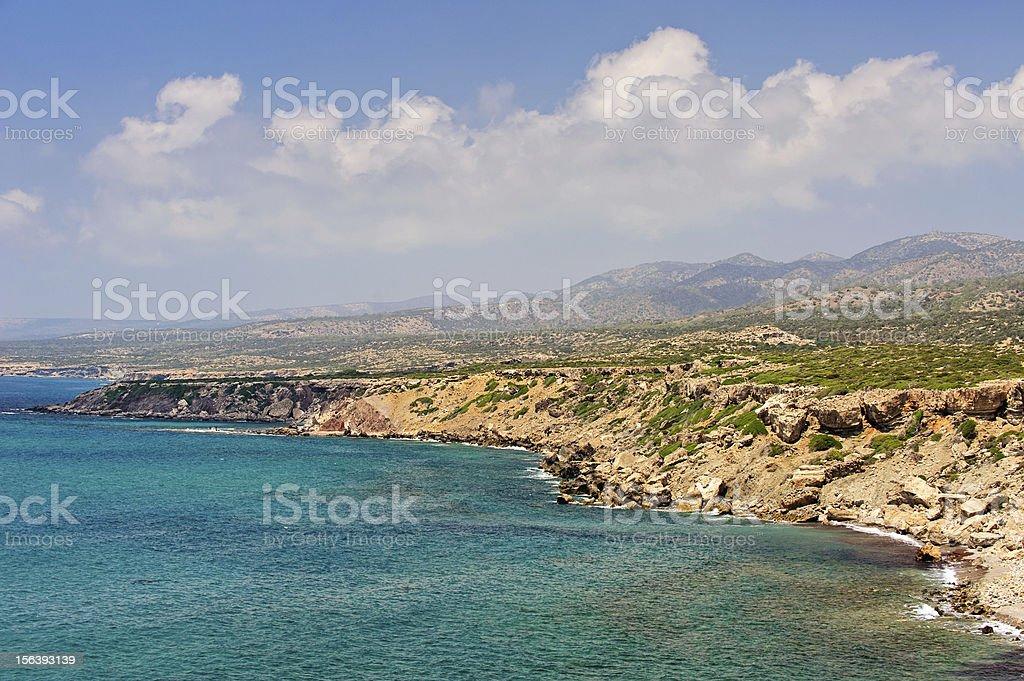 Akamas peninsula on Cyprus royalty-free stock photo