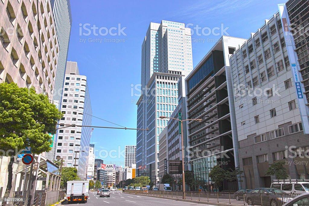 Akasaka landscape stock photo
