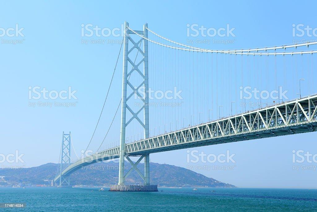 Akashi bridge royalty-free stock photo