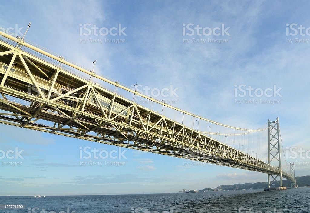 Akashi Kaikyo Bridge royalty-free stock photo