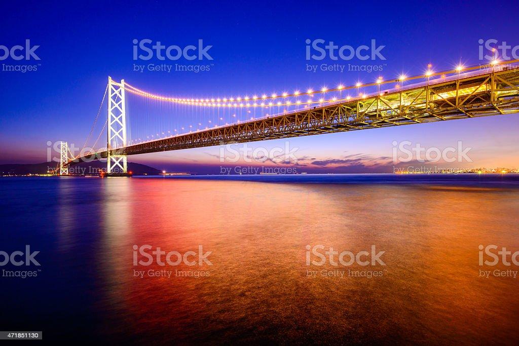 Akashi Okashi Bridge stock photo