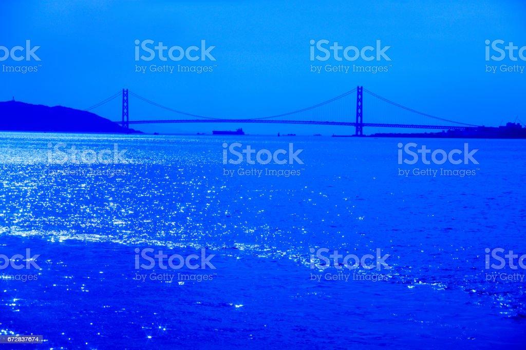 Akashi-Kaikyo Bridge stock photo