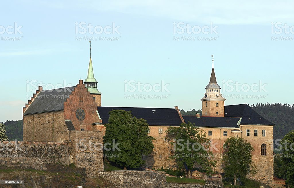 Akershus fortress in Oslo, Norway royalty-free stock photo