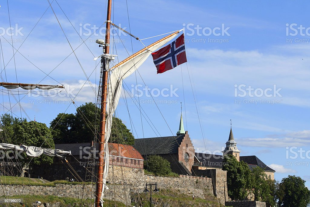 Akershus fortress, Oslo Norway royalty-free stock photo