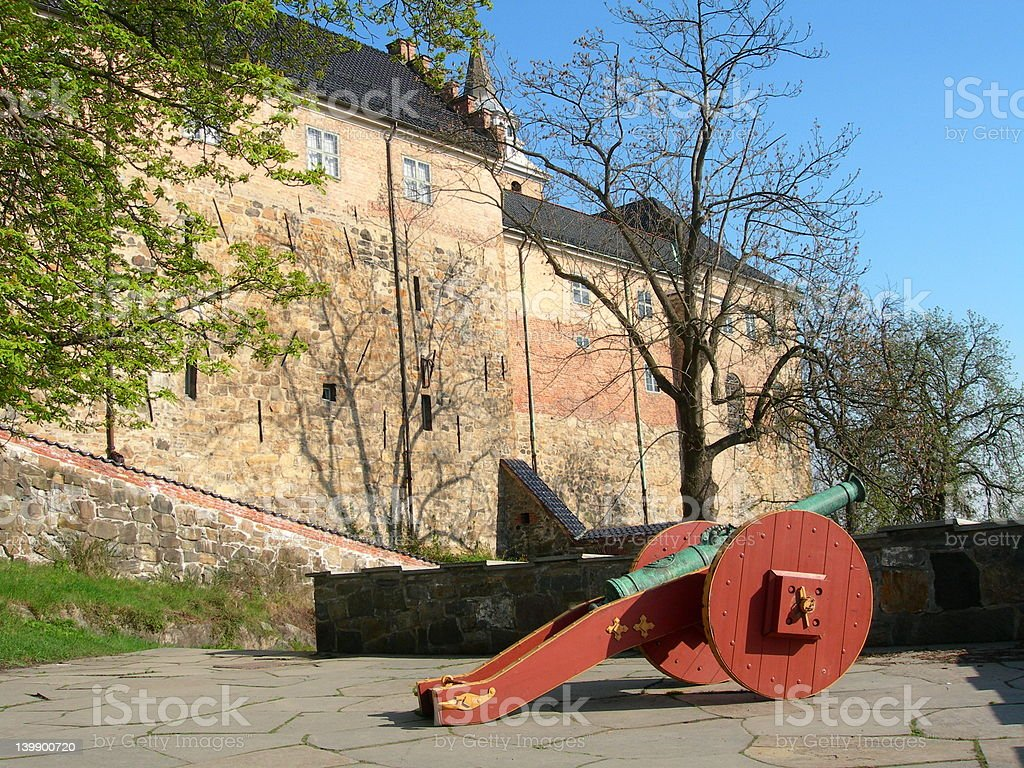 Akershus fortress Oslo royalty-free stock photo