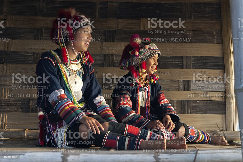 Akha Children stock photo