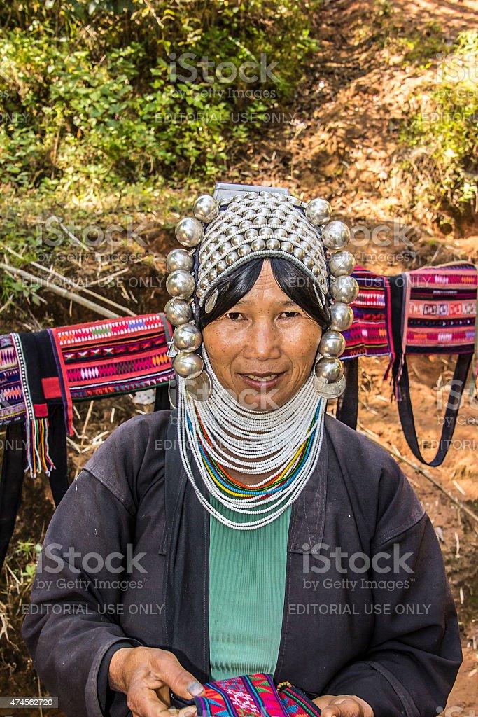 Akha woman stock photo