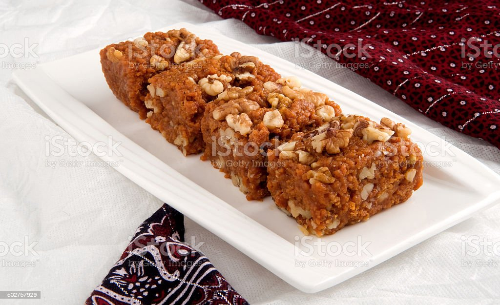 Akhroat Halwa stock photo