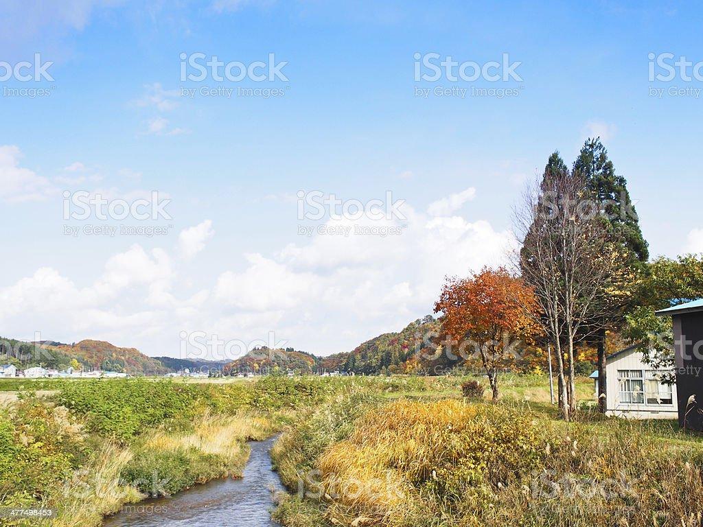 Akita Prefecture in Japan at autumn stock photo