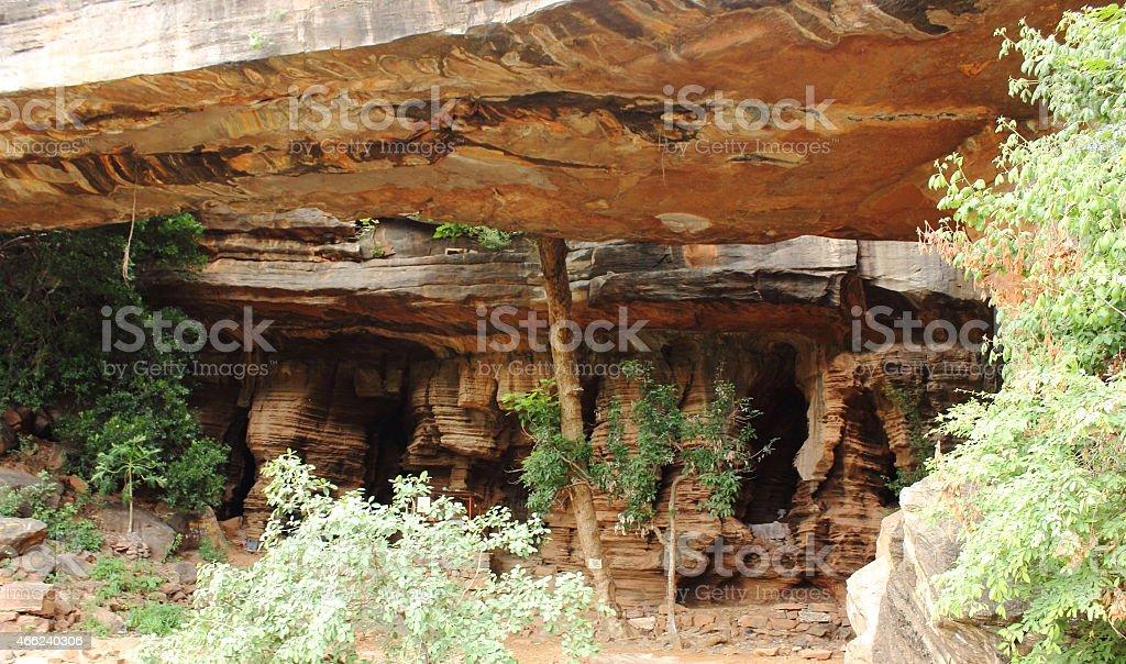 Akka Mahadevi caves stock photo
