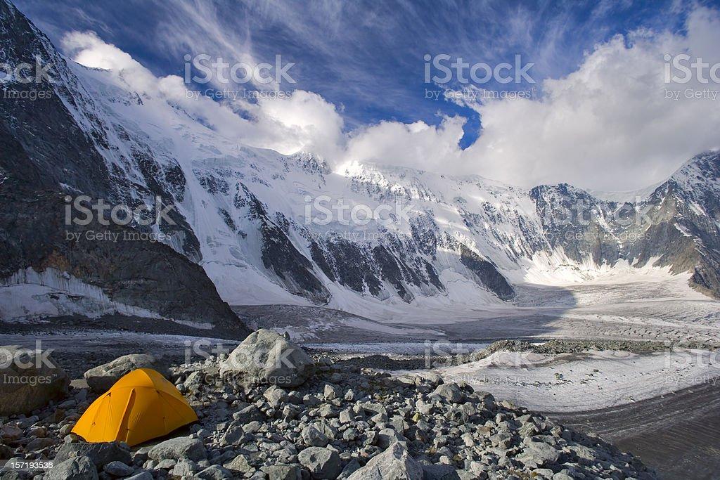 "Ak-kem glacier and ""wall"". Beluha. Altay. stock photo"