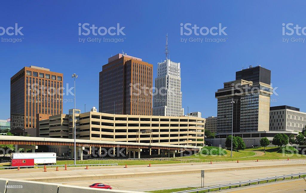 Akron, OH downtown skyline stock photo