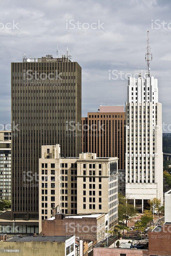 Akron, Ohio - downtown stock photo