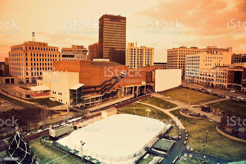 Akron panorama stock photo