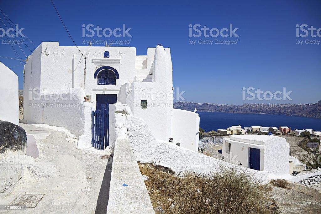 Akrotiri village view. Santorini. Greece. royalty-free stock photo