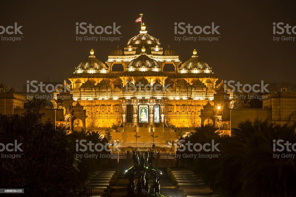 Akshardham Temple at New Delhi, India-CNGLTRV1109 stock photo