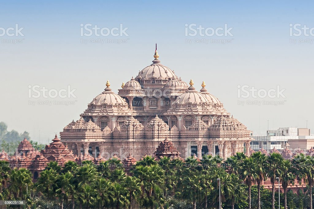 Akshardham temple stock photo